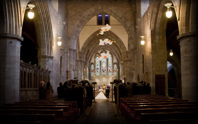 Brecon cathedral interior